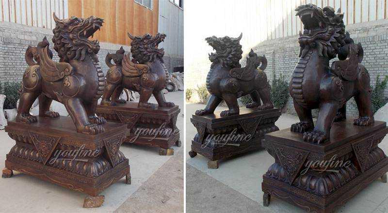 Antique Cast Bronze Kirin Statue for Front Porch Supplier
