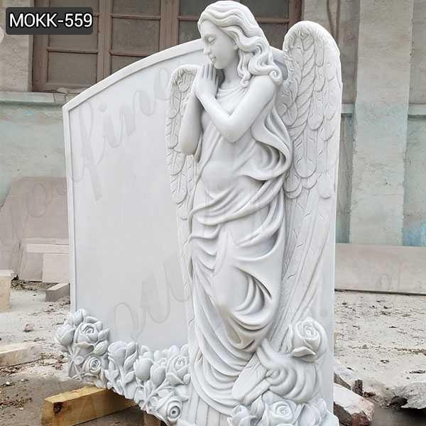 Beautiful Marble Angel Monument Headstone Supplier MOKK-559
