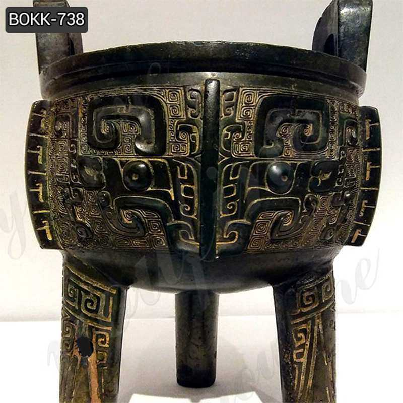 Chinese Cast Bronze Ding Tripod Censer for Temple BOKK-738