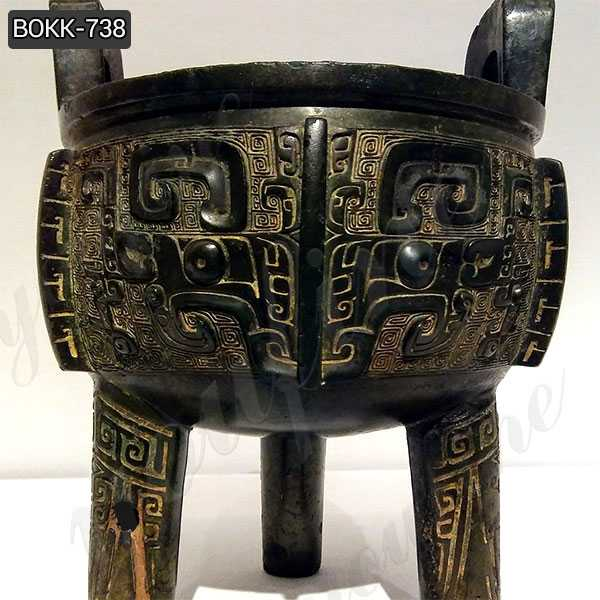 Chinese Cast Bronze Ding Tripod Censer for Temple