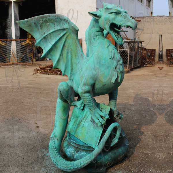 Classical Western Bronze Dragon Statue for Outdoor Decoration Supplier BOKK-561