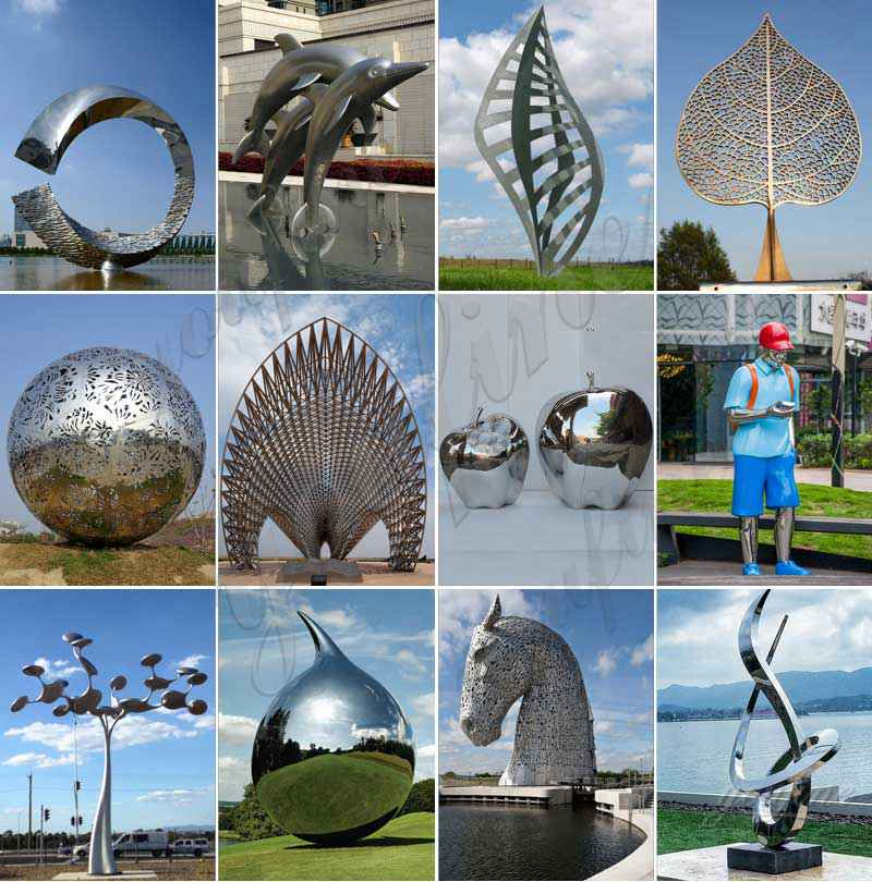 Contemporary Large Outdoor Stainless Steel Sculpture