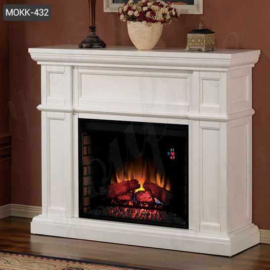Contemporary White Marble Fireplace Surrounds from China Factory MOKK-432