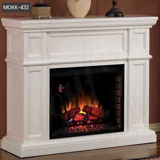 Contemporary White Marble Fireplace Surrounds