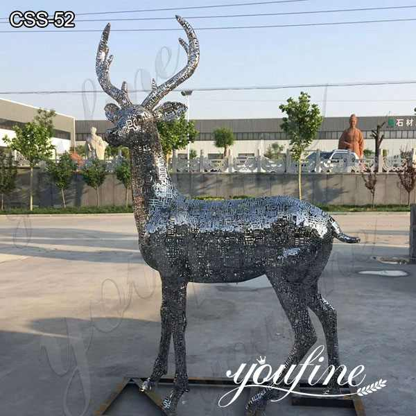 Custom Art Craft Stainless Steel Animal Deer Sculpture