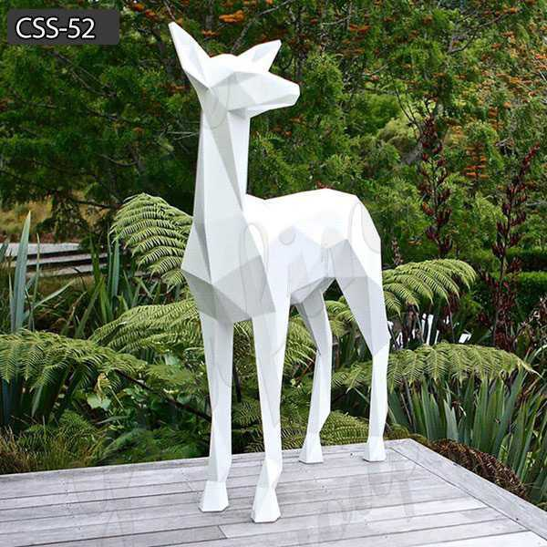 Custom Art Craft Stainless Steel Animal Deer Sculpture for Sale CSS-52