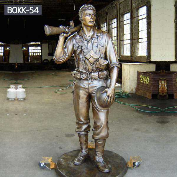 Custom Made Casting Bronze Memorial Soldier Statue