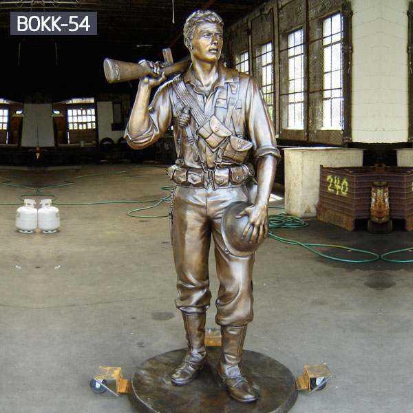 Custom Made Casting Bronze Memorial Soldier Statue