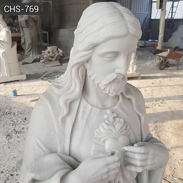 Custom Made Marble Sacred Heart Jesus Statue