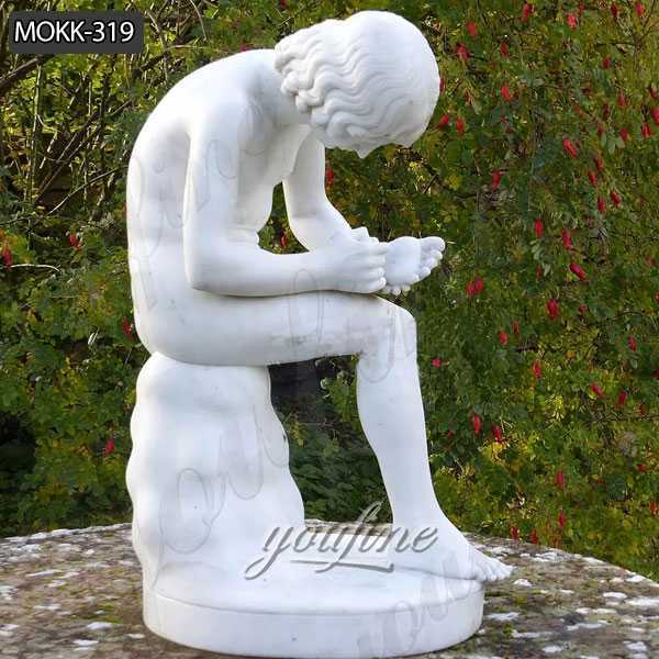 Art Marble Statue Boy with Thorn for Sale