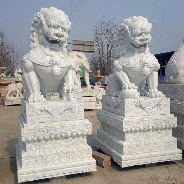 Foo Dog Statues for Sale Outdoor Marble Lion Statues