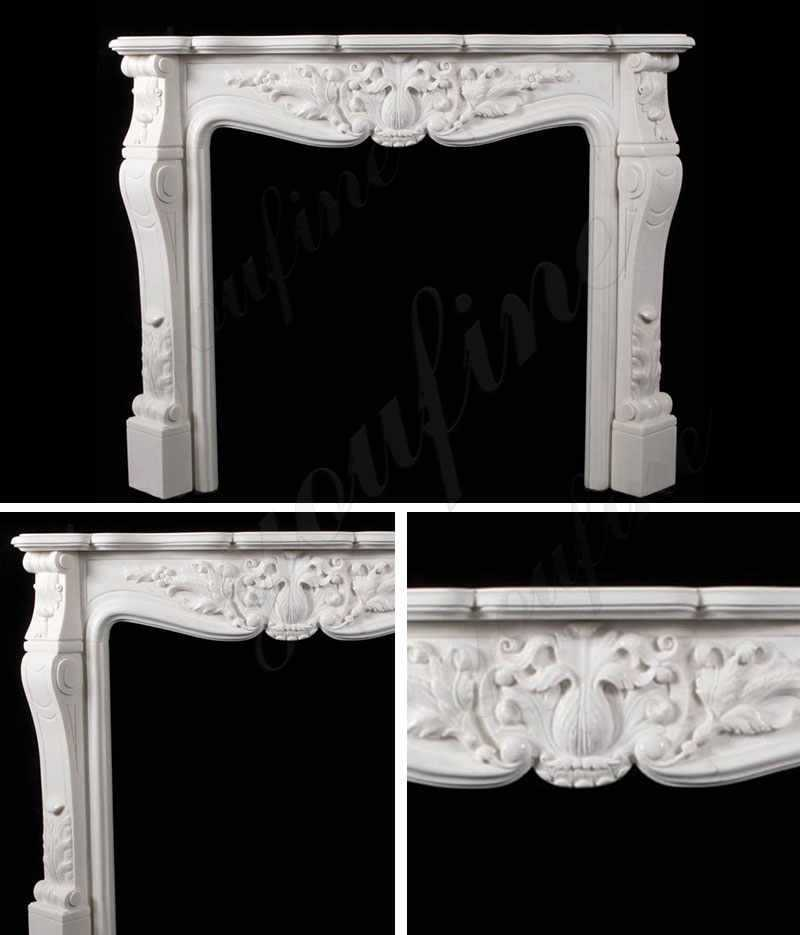 French Design Marble Fireplace Mantel