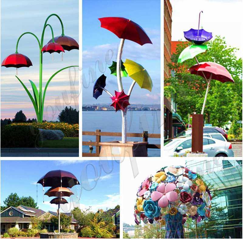 Garden Art Metal Stainless Steel Flowers Sculpture Decor CSS-100