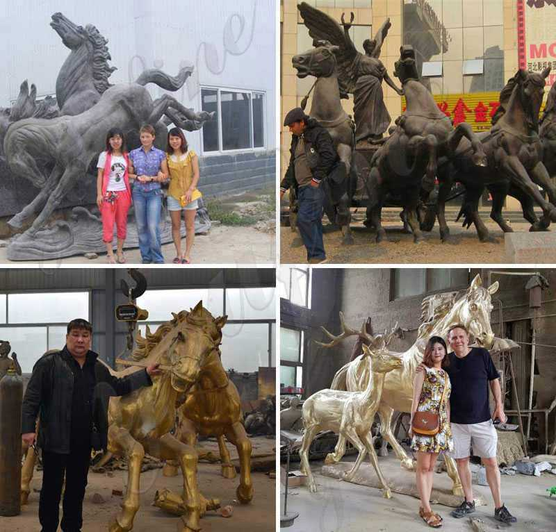 Giant Antique Bronze Horse Statue for