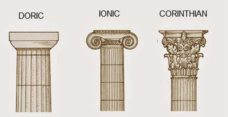 Greek ancient architecture columns