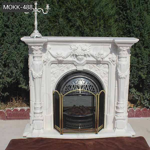 Hot Design Hand Carved Exquisite French Marble Fireplace Supplier MOKK-488