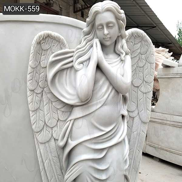 High Quality Beautiful Marble Angel Monument Headstone
