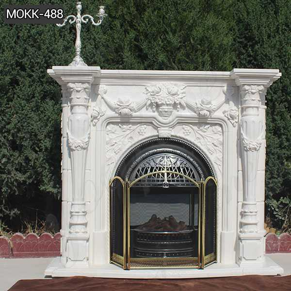 Hot Design Hand Carved Exquisite French Marble Fireplace Supplier