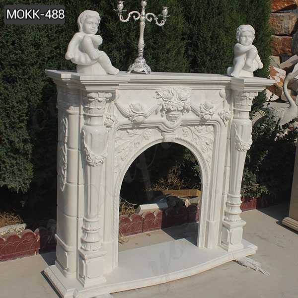 Hot Design Hand Carved Exquisite French Marble Fireplace