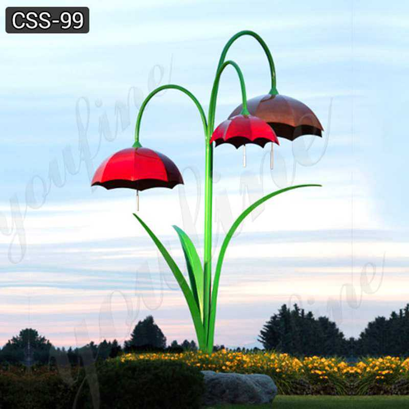 Hot Sale Outdoor Modern Metal Umbrella Stainless Steel Sculpture