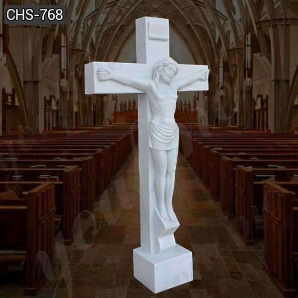 Jesus Christ on the Cross Marble Statue for Sale