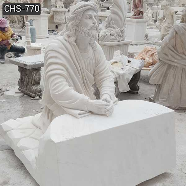 Jesus Praying in the Garden of Gethsemane Marble Statue for Sale