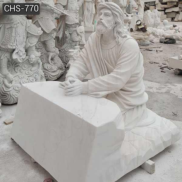 Jesus Praying in the Garden of Gethsemane Marble Statue