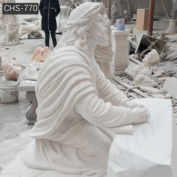 Jesus in the Garden of Gethsemane Marble Statue for Sale