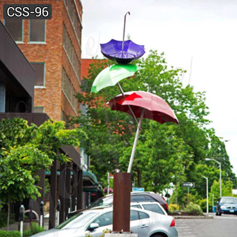Landscaping Polished Large Outdoor Stainless Steel Umbrella Sculpture Supplier