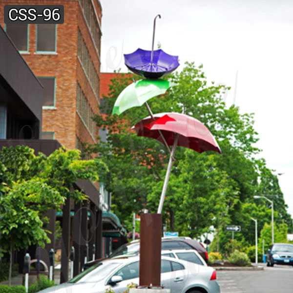 Landscaping Polished Large Outdoor Stainless Steel Umbrella Sculpture