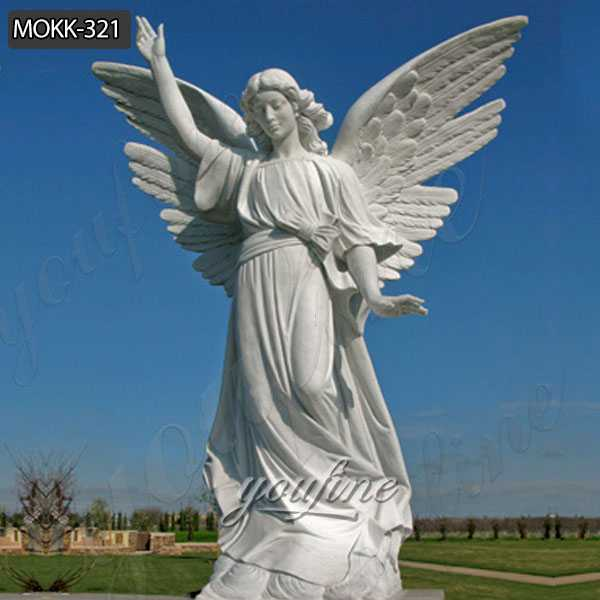 Life Size Feamle Angel Marble Statue for Cherokee Memorial Park
