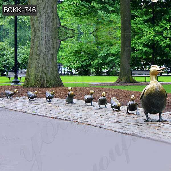 Make Way for Ducklings Bronze Statue Lawn Ornaments for Sale BOKK-746
