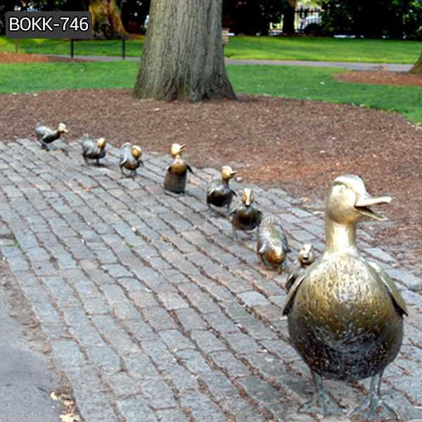 Make Way for Ducklings Bronze Statue Lawn Ornaments for Sale