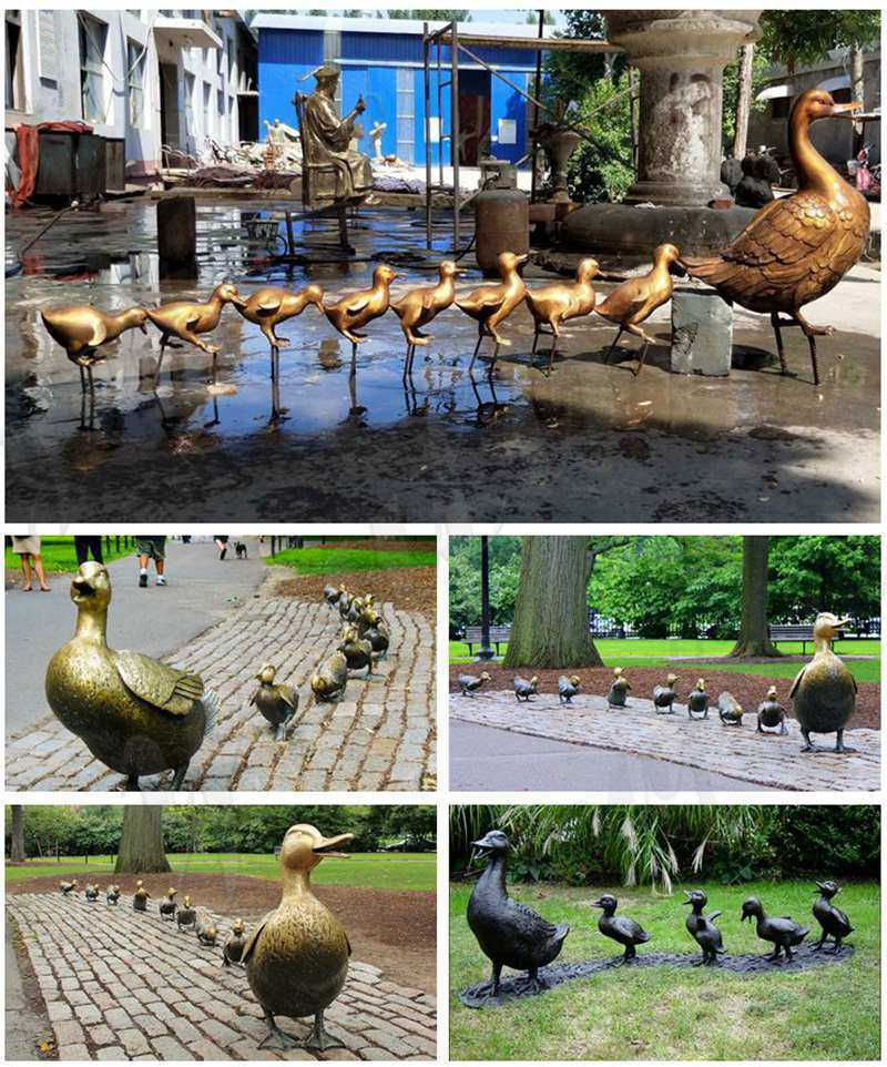 Make Way for Ducklings Bronze Statue for sale