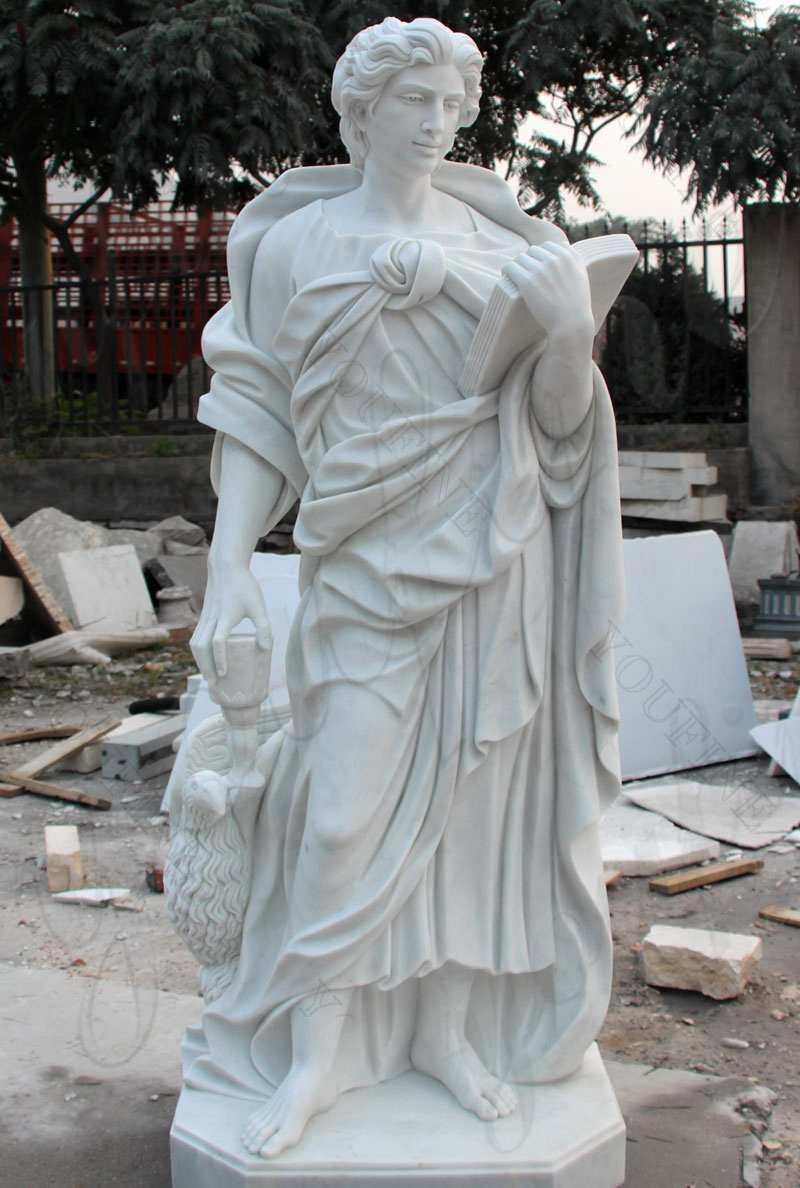 Marble Religious Statue St John the Evangelist Sculpture