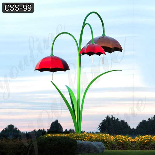 Hot Sale Outdoor Modern Metal Umbrella Stainless Steel Sculpture CSS-99