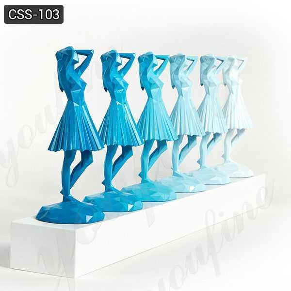 Outdoor Modern Abstract Stainless Steel Women Figure Sculpture CSS-103