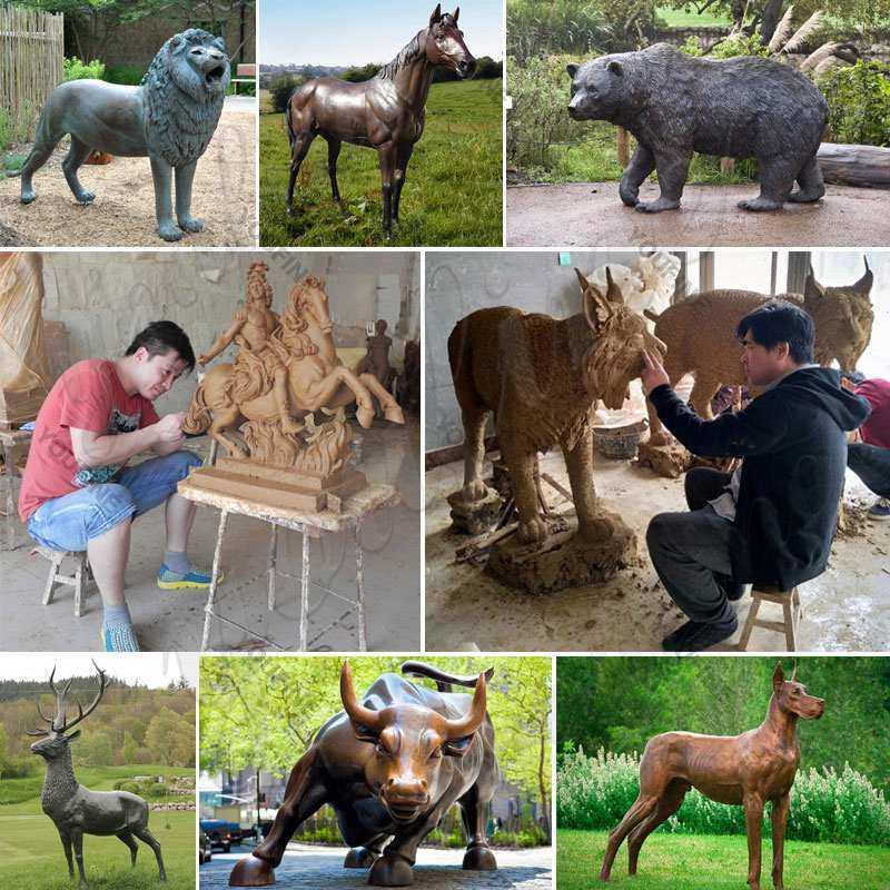 Outdoor Large Bronze Rhinoceros Statue