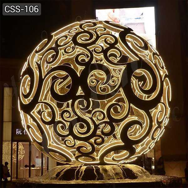 Outdoor Large Hollow Stainless Steel Ball Sculpture Supplier