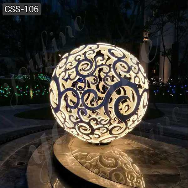 Outdoor Large Hollow Stainless Steel Ball Sculpture