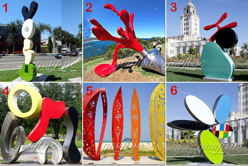 Outdoor Modern Metal Umbrella Stainless Steel Sculpture