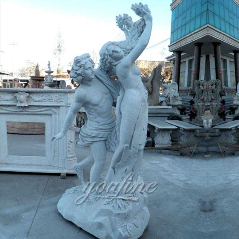 Outdoor famous marble Apollo and Daphne statue for garden