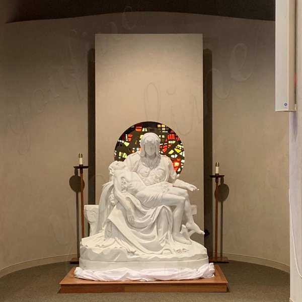 Marble Michelangelo Pieta Sculpture Made for Our American customer