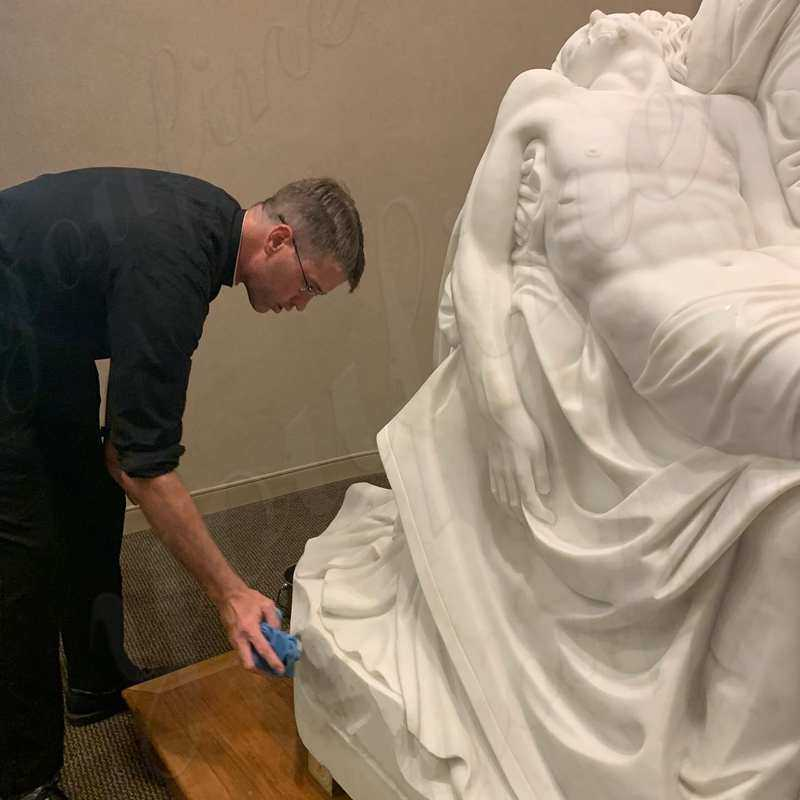 Pieta Maria Holding Jesus Marble Statues