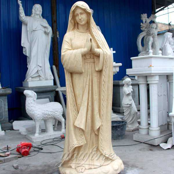 Religious Marble Statue Our Lady of Lourdes for Garden Supplier