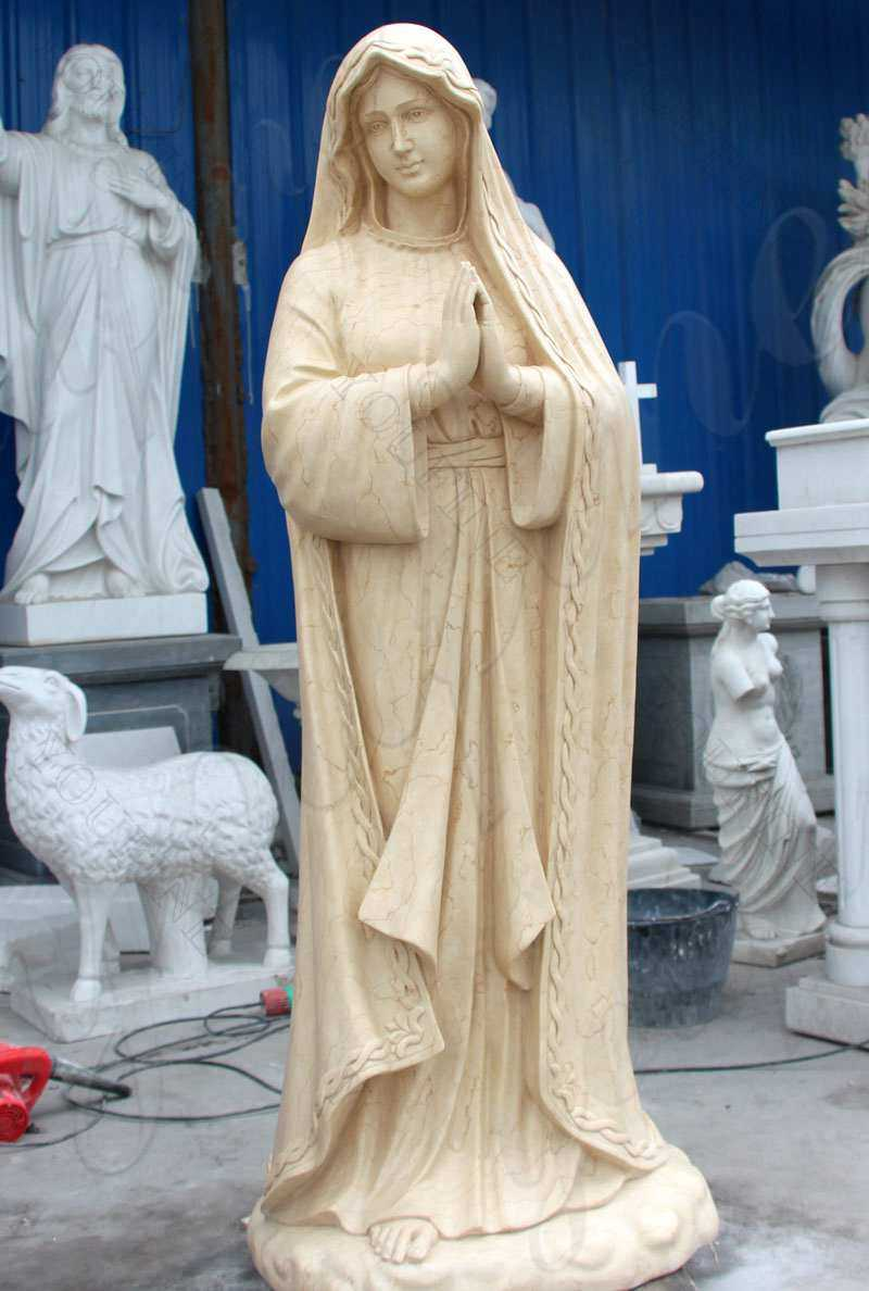 Religious Marble Statue Our Lady of Lourdes