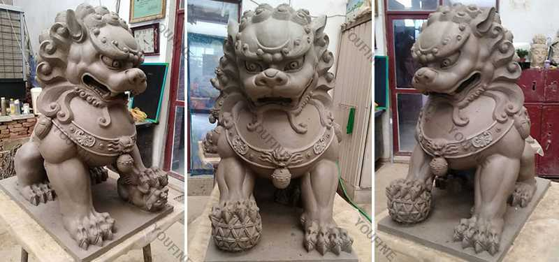 The Clay Mold of Chinese FooFu Dogs