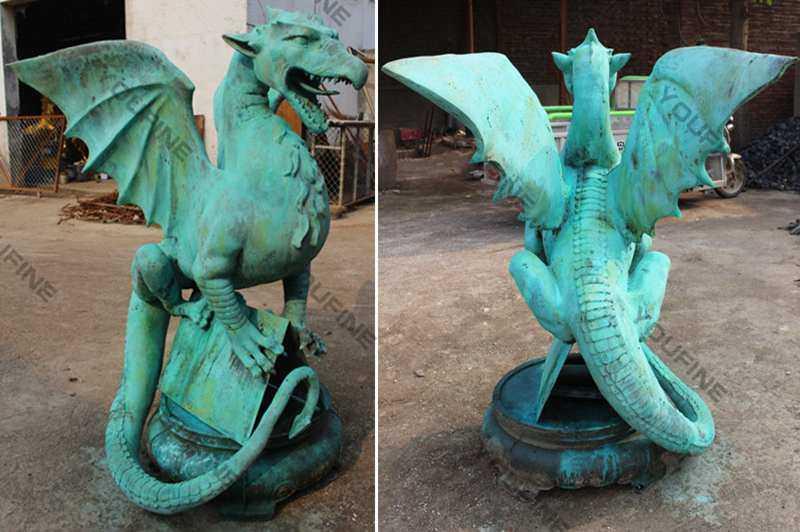 Western Bronze Dragon Statue for Outdoor Decoration Supplier BOKK-561