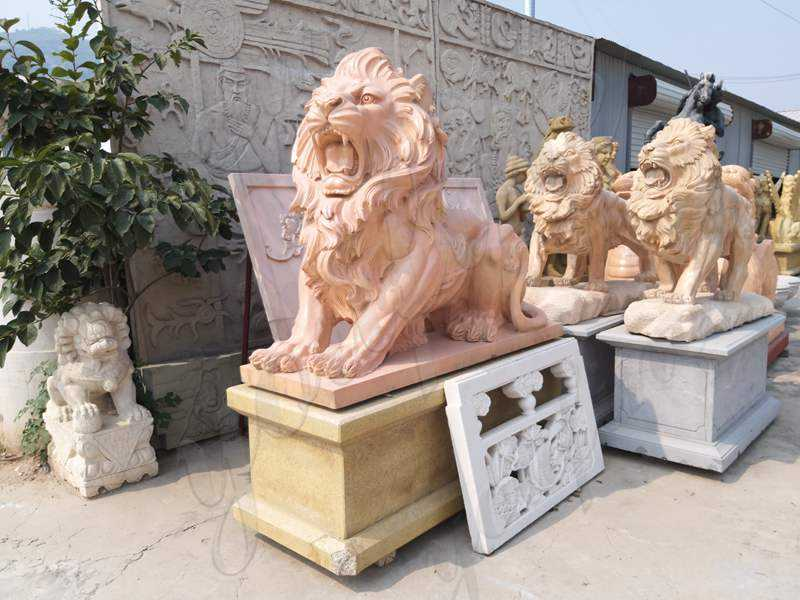 Where to Buy Hand Carved Marble Stone Lion Guardian Staute In Stock