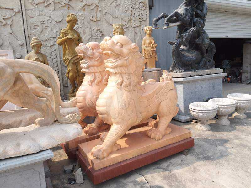 Where to Buy Hand Carved Marble Stone Lion Guardian Staute